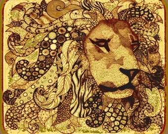 """African Lion FQ Kalahari 18"""" x 21"""""""