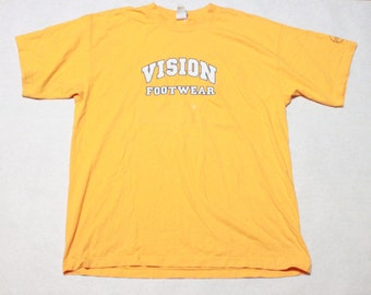 vintage vision street wear t shirt vision foot wear classic skater shirt - size xl