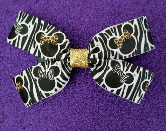 Safari Minnie hair bow