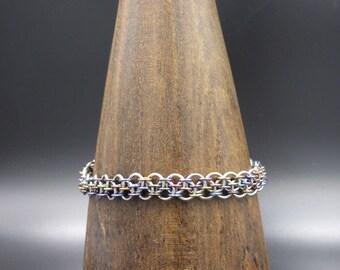 Niobium Dragonsteps Chainmaille Bracelet