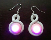 Color Changing LED Infinity Earrings in White