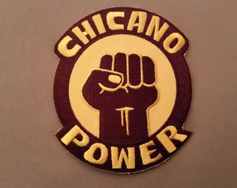 embroidered chicano power patch