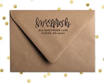 Custom Hand-lettered Return Address Stamp