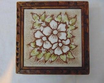 Wood Framed Tile Trivet