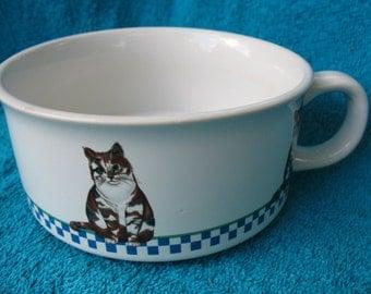 1992 Potpourri Press Calico Cat Ceramic mug/soup bowl