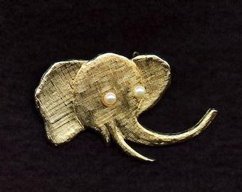 J. Freides NYC Elephant Brooch - Pin