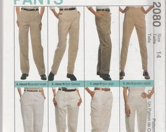 McCall's 2080 Size 12, 14, 16, 18, 20, or 24 Palmer Pletsch Perfect Fit Pants Sewing Pattern 1999 UnCut