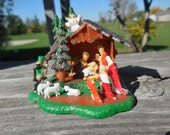 Vintage Christmas Nativity Complete WITH Box