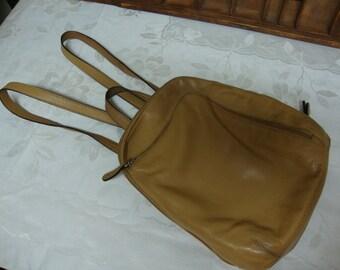 Tan Tignanello Backpack Purse