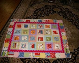Vintage Handmade Baby Quilt