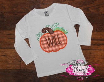 Personalized Boys Pumpkin Shirt