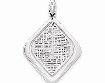 Sterling Silver Brushed/Polished Pendant