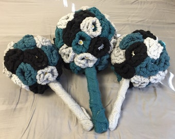 Hand Made Knitted Wedding Bouquet