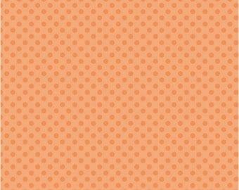 SALE 1 Yard Riley Blake Small Dots in Orange Tone
