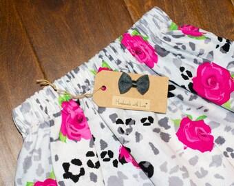 Toddler Skirt - Rosey Posey Cotton Skirt - 3T