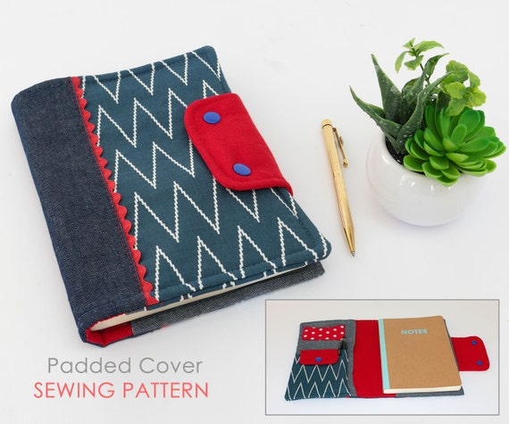 Composition Book Cover Sewing Pattern ~ Journal cover sewing pattern diary