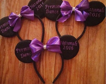 Personalized Minnie mouse inspired Headband