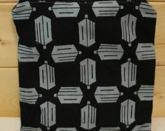 One Sandwich Bag, Flannel, Reusable Lunch Bags, Waste-Free Lunch, Machine Washable, Doctor Who, Sandwich Sacks, item #SS94