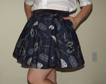 Blue Star Wars Battle Skirt with POCKETS - Custom Size