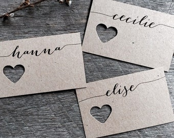 IRIS | Wedding Fork Place Cards