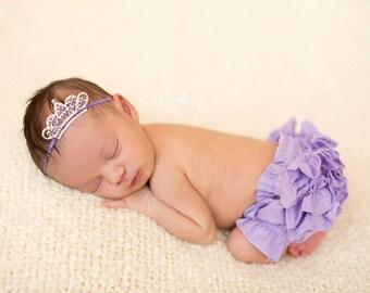 Alexandrite Rhinestone Tiara- June Birthstone- Mini Tiara- Mini Crown- Lavender Crown- Baby Crown- Crown Headband- Newborn Crown- Photo Prop