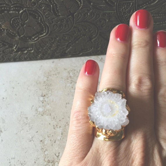 Solar Quartz Cigar Ring