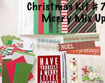 DIY Christmas Card Making Kit #7 - Mixed Theme Set, Kid's Card Making Kit, Activity Kit For Kids, Craft Kits for Kids, Kid's Christmas Kits