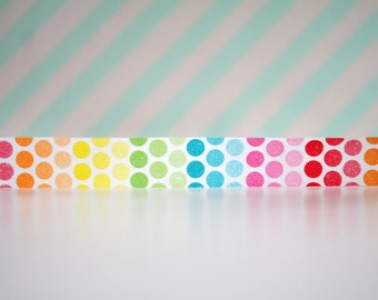 Rainbow Circle Washi Tape