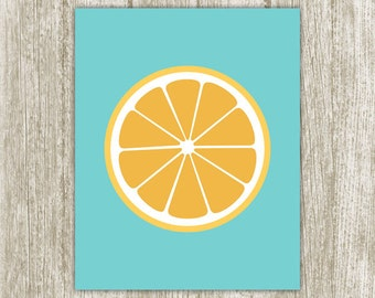 Orange Printable, Kitchen Printable, Citrus Fruit Print, Kitchen Print, Kitchen Wall Art, Kitchen Decor 5x7 8x10 11x14 Instant Download