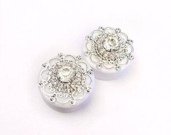 Diamanté Filigree Ear Plugs