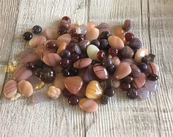 Czech Glass Bead Earth Tones Mix  50g Bead Soup