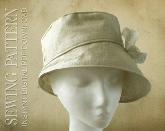 SEWING PATTERN - Kimberly, 1960's/modern bucket hat for Child or Adult