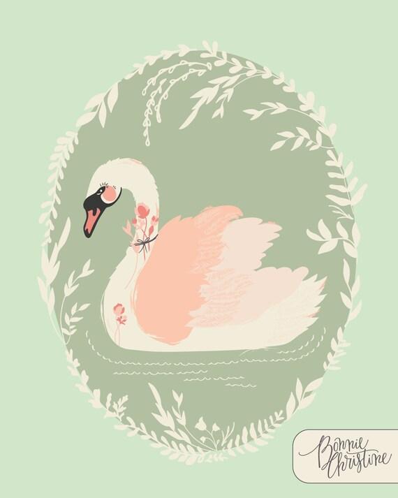 Hello, Ollie Dabbling Swan in Sage