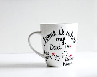 Dad Coffee Mug| Gift for Him| Long distant Dad Gift|  Gift for Dad| Dad Coffee Mug|  Gift for Father| Gift| Dad Mug| Gift for him| mens gift