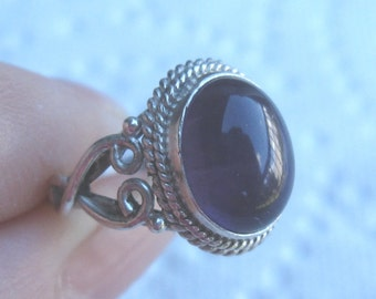 Amethyst Sterling Ring Sizes 4 1/2