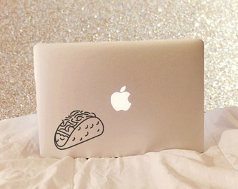 Taco Decal - Taco Laptop Decal - Taco Macbook Decal - Vinyl Decal - Laptop Decal - Laptop Sticker - Macbook Decal - Macbook Sticker - Taco
