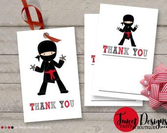 NINJA FAVOR TAGS, Instant Download, Ninja Thank you tags, Instant Download Ninja Favor Tags, Ninja Gift Tags, Ninja Party, Printable