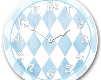 Harlequin Blue Wall Clock
