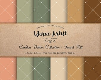 Cushion Dotties Collection - Sunset Hill - Digital Paper