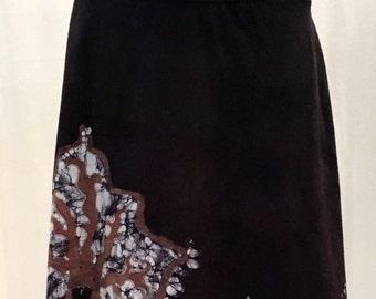 LARGE SKIRT Tree and Moon batik skirt