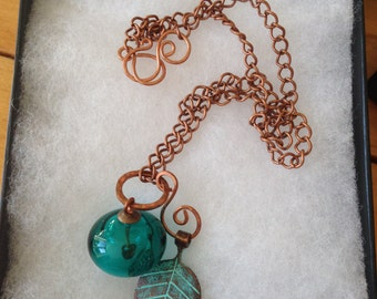 Lampwork and copper jewellery