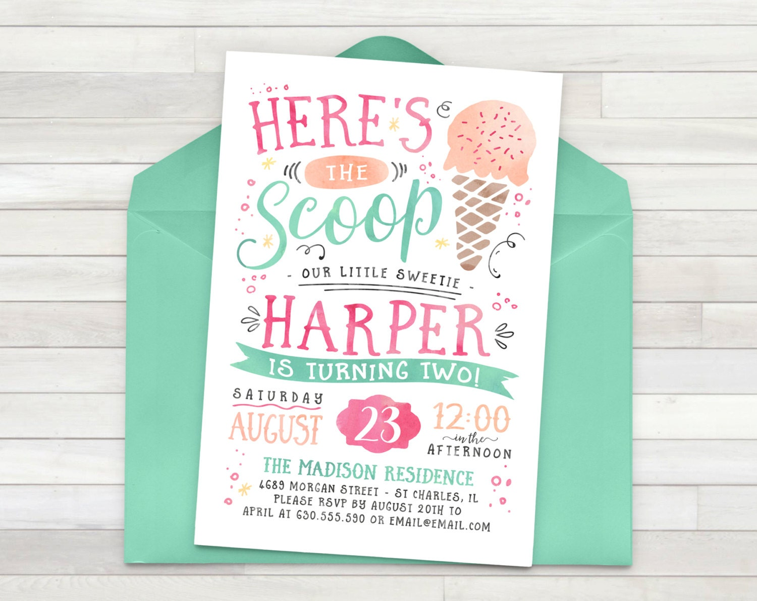 Custom Birthday Party Invitations is adorable invitation design