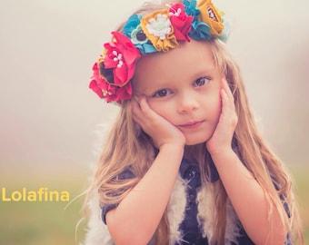 Flower halo...Satin Flower Headband