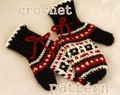 PDF Crochet Pattern - Byward Market Mittens, Womens - Instant Download