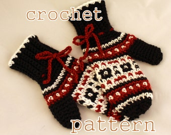 PDF Crochet Pattern - Byward Market Mittens, Womens - Instant Download