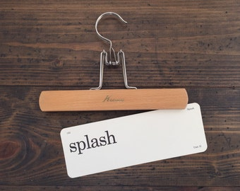 vintage flash card • splash | Dick and Jane flashcard