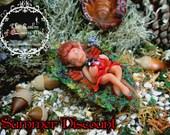 SUMMER DISCOUNT. Classic Fairies. Sleeping Fairy Poppy. Fantasy Art figure.