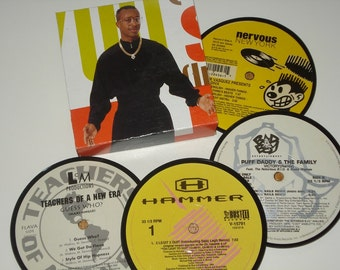 Hip Hop Coasters vinyl record coasters