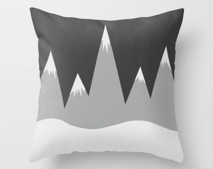 Mountain Peaks Pillow Cover - Pillow Cover - Throw Pillow Cover - Includes Pillow Insert - Made to Order