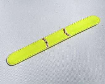 Softball slap bracelet
